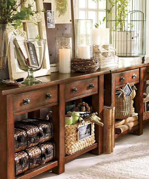 Benchwright Rustic Console Table