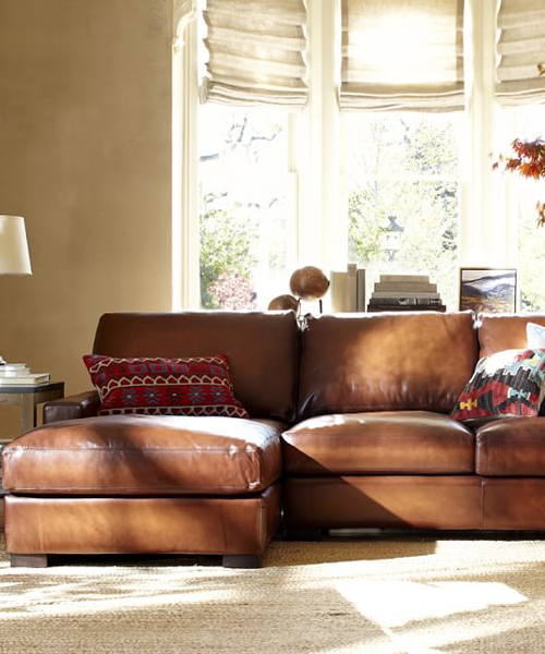 Leather Chaise Sectional : leather chaise couch - Sectionals, Sofas & Couches
