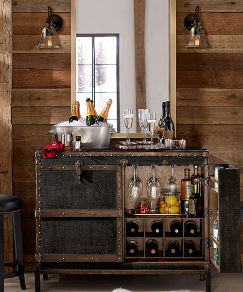 bar trunk furniture. ludlow rustic trunk bar cabinet furniture