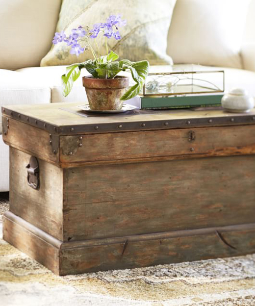Rustic Trunk Coffee Table Hope Chest