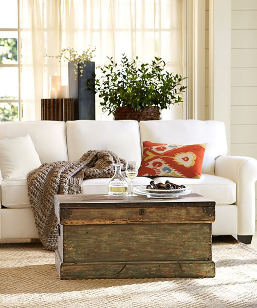 Rebecca Rustic Trunk Coffee Table