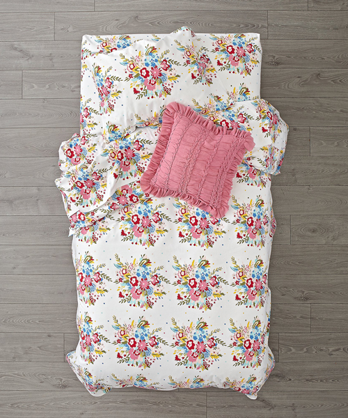 Floral Flannel Bedding
