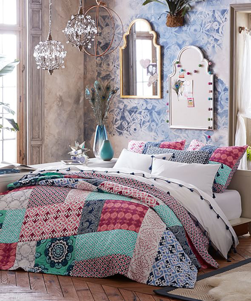Teen Boho Bedding Set