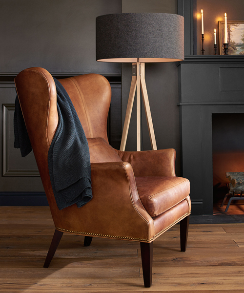 Clinton Rustic Wingback Chair