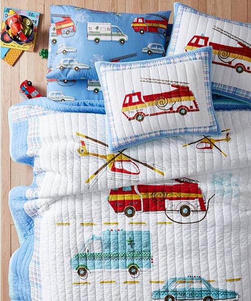 Firetruck Quilt Bedding