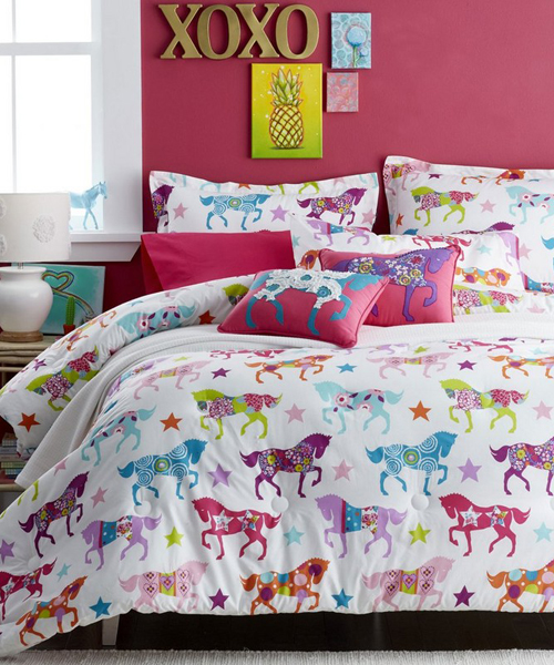 Girls Pony Bedding