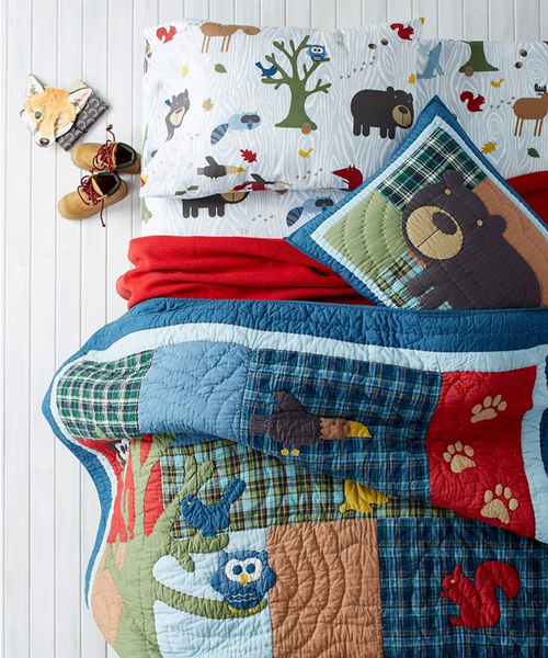 Kids Rustic Woodland Bedding