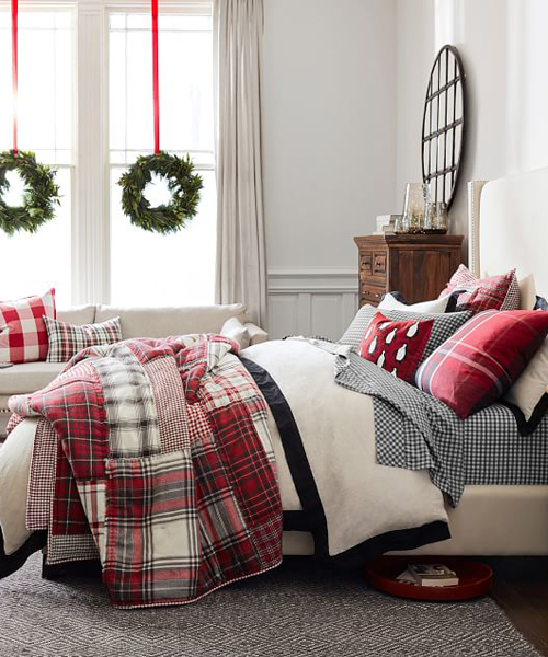 Plaid Patchwork Christmas Quilt