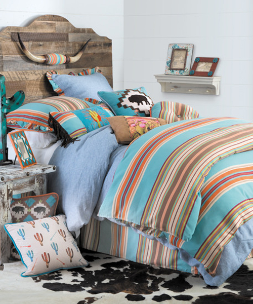 western chambray bedding - Turquoise Bedding