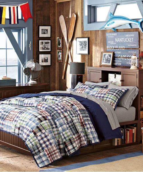 bedroom sets for boys boys quilt set madras plaid quilt bedding 14406