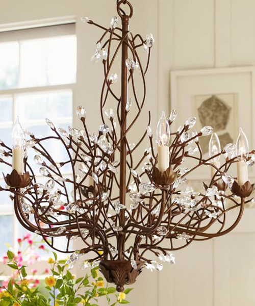 rustic crystal chandeliers rustic chandelier branches chandelier 735