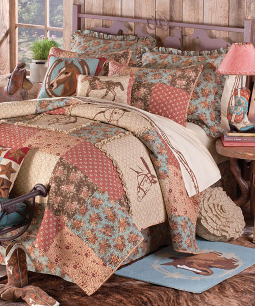 Girls horse bedding cowgirl pony bedding sets for Horse themed bedroom for girls