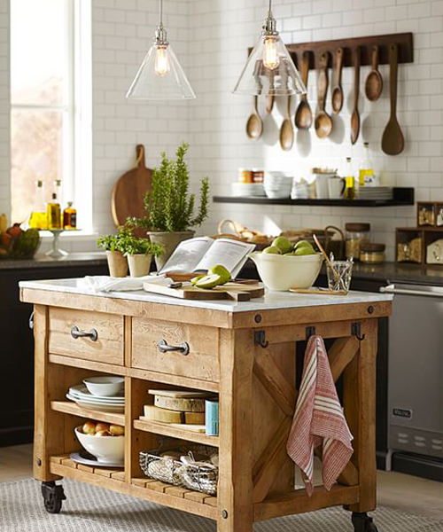 Hamilton Reclaimed Wood Kitchen Island