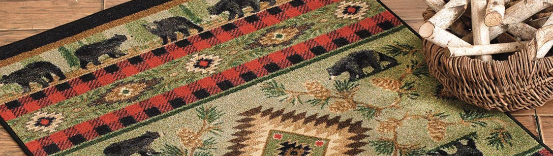 Cabin And Lodge Wildlife Rug